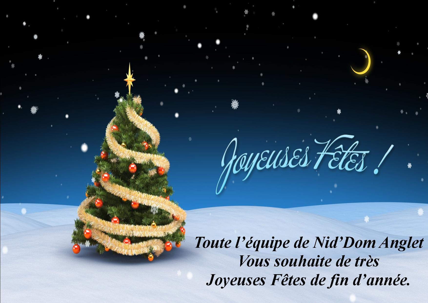 Joyeuses fêtes Niddom Anglet