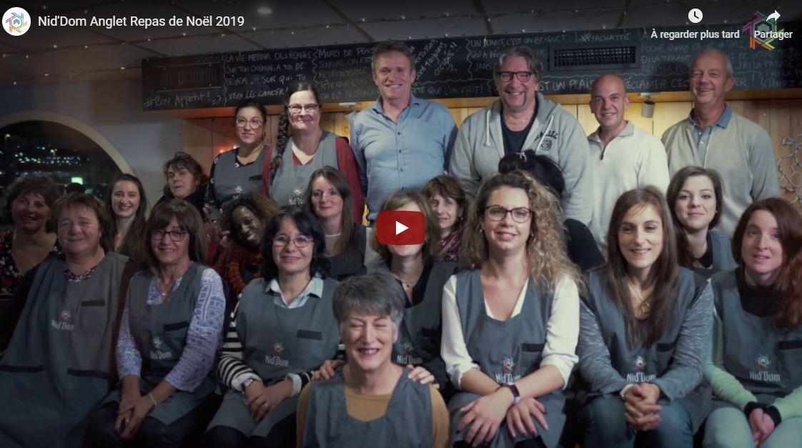 Nid'Dom repas de Noël 2019 des salariés