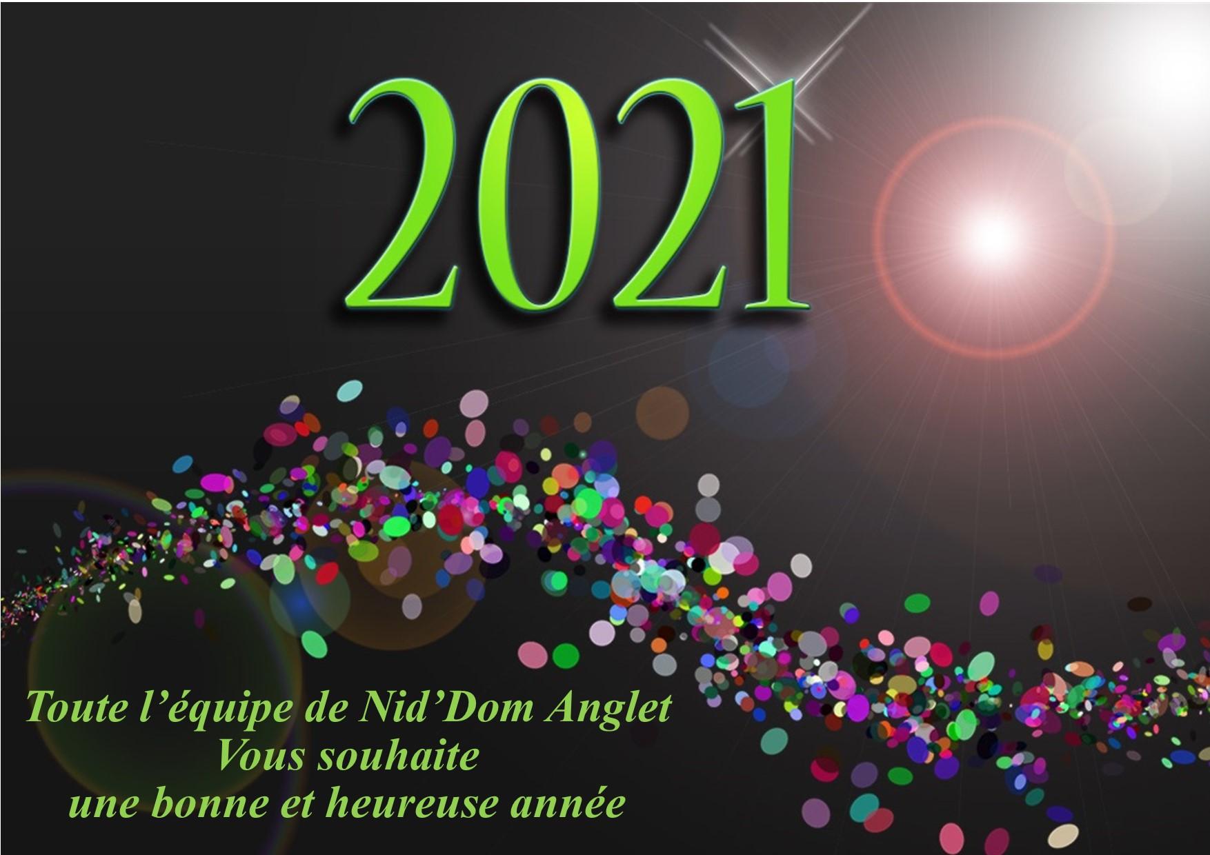 Meilleurs voeux Nid'Dom 2021